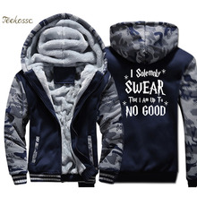 I Solemnly Swear That Am Up To No Good Hoodie Men Hooded Sweatshirt Coat 2018 Winter Thick Fleece Warm Camouflage Jacket Mens