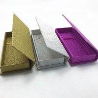 3D Mink EyeLashes Custom Box Full Strip Eyelash Print Logo Glitter Box Lash Packaging 100 Pairs/Lot Free Shipping