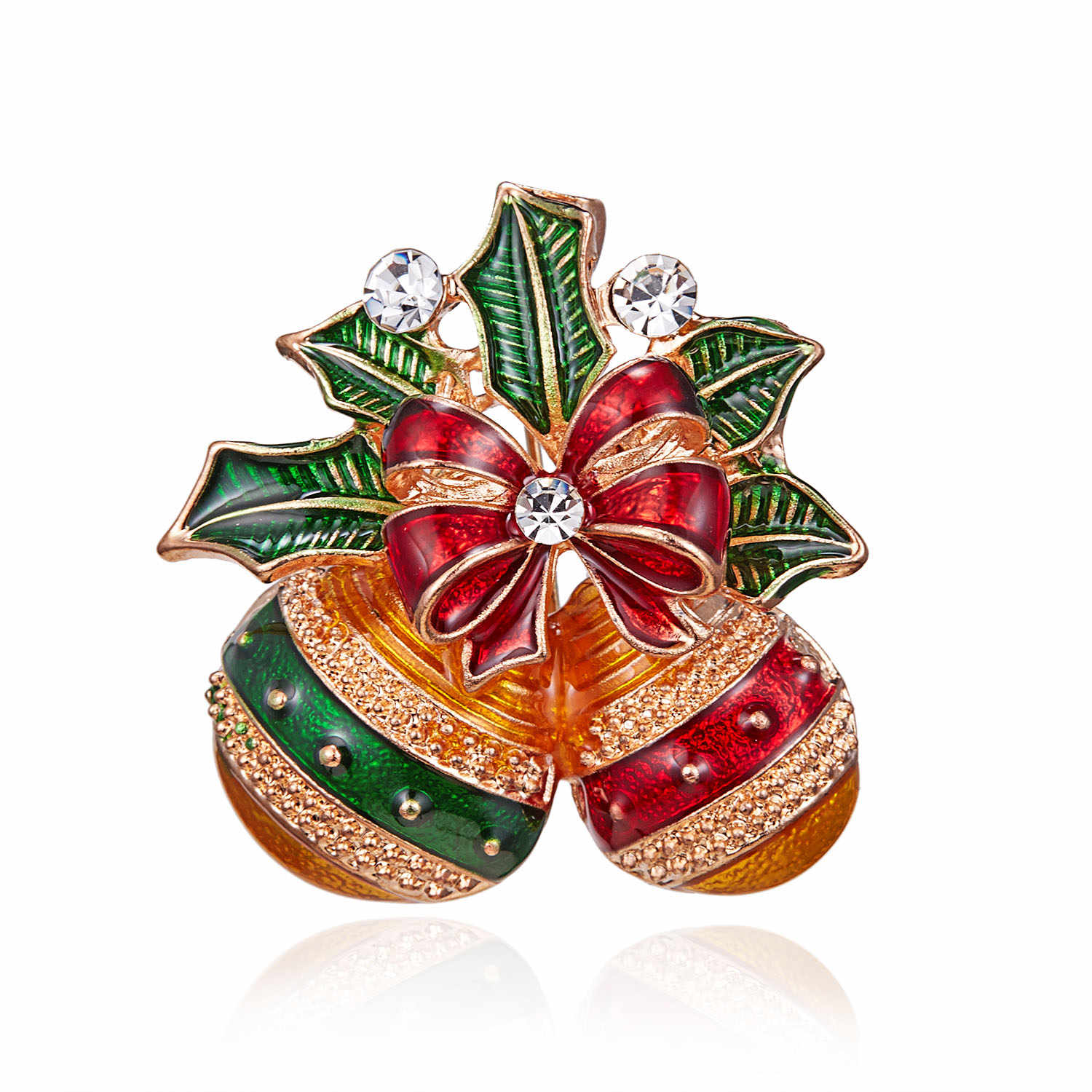 rinhoo Cute Paint Christmas Apple Bell Brooches For Women Creative Colorful  Pins Party Casual Accessories Coat 4415246cc874