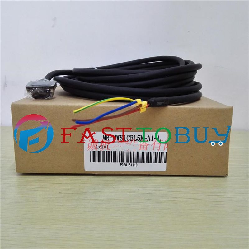 Brand New Power Cable MR-PWS1CBL3M-A1-L Compatible With Mitsubishi Servo 3M One Year Warranty servo cable mr pwcnk1 10m 10 meter mr pwcnk1 servo power connector