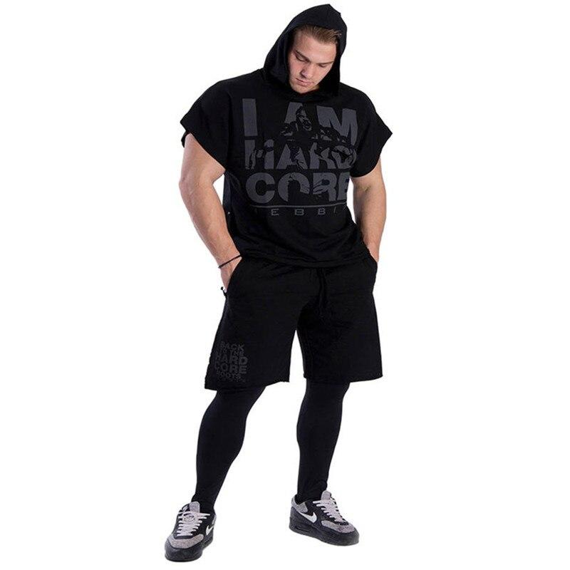 Men cotton hoodie sweatshirts fitness tank top (10)