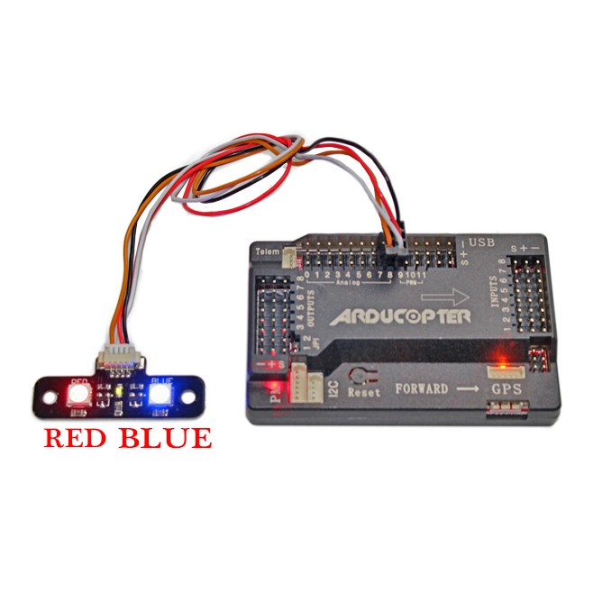 APM2.8 External LED Module High Light Signal Led Indicator Extend Expand Board for <font><b>APM</b></font> <font><b>2.8</b></font> Flight Controller F450 Quadcopter image