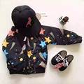 Pattern Star Flight Jacket Baby Winter Jacket Coat Boys Girls  Parka Kids 2016 Ykk Zipper Inner Is Cotton Cicishop