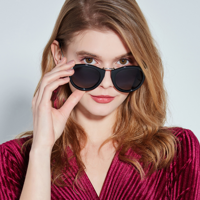 a22a651056 VEGOOS Vintage Fashion Round Arrow Style Polarized Sunglasses for Women  Mirrored Lenses UV400 Protection Ladies Shades  6107-in Sunglasses from  Apparel ...