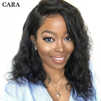 Short Human Hair Wigs For Women Bob Lace Front Wigs 150% Density Natural Brazilian Wig Wavy Pre Plucked With Baby Hair Remy CARA