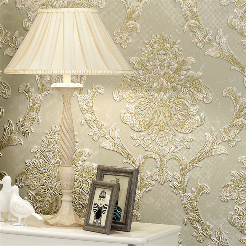 beibehang bedroom non-woven deep embossed wallpaper 3d dimensional relief coining living room backdrop wallpaper American beibehang american rural pastoral flowers 3d three dimensional non woven wallpaper bedroom bedroom full of living room backdrop