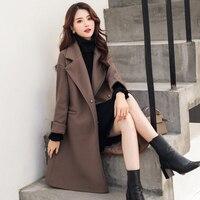 Fitaylor Autumn Winter Women Woolen Coats OL Casual Jackets Long Sleeve Blazer Outwear Female Elegant Wool Double Breasted Coat