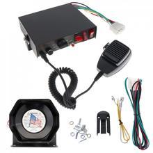 200 Вт 12 В 8 звук Динамик автомобиля охранной сигнализации полиции пожарной сирены Рог PA с микрофоном Системы