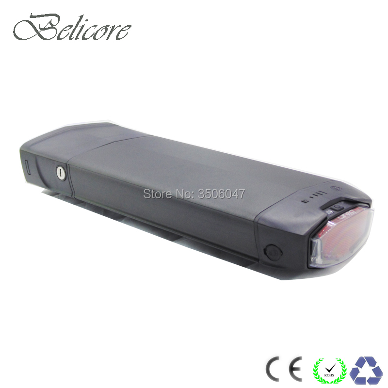 Free shipping Ebike rear rack battery pack 36V 48V 52V 11.6ah 12AH 13AH 14Ah e-bike luggage battery pack with 2a charger