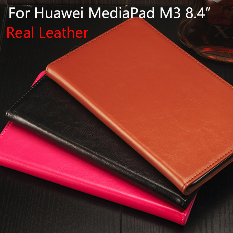 Real Leather Case cover For Huawei MediaPad M3 8.4 inch Tablet PC Protective Case For Huawei M3 BTV-W09 BTV-DL09+Film+Stylus+OTG for 2017 huawei mediapad m3 youth lite 8 cpn w09 cpn al00 8 tablet pu leather cover case free stylus free film