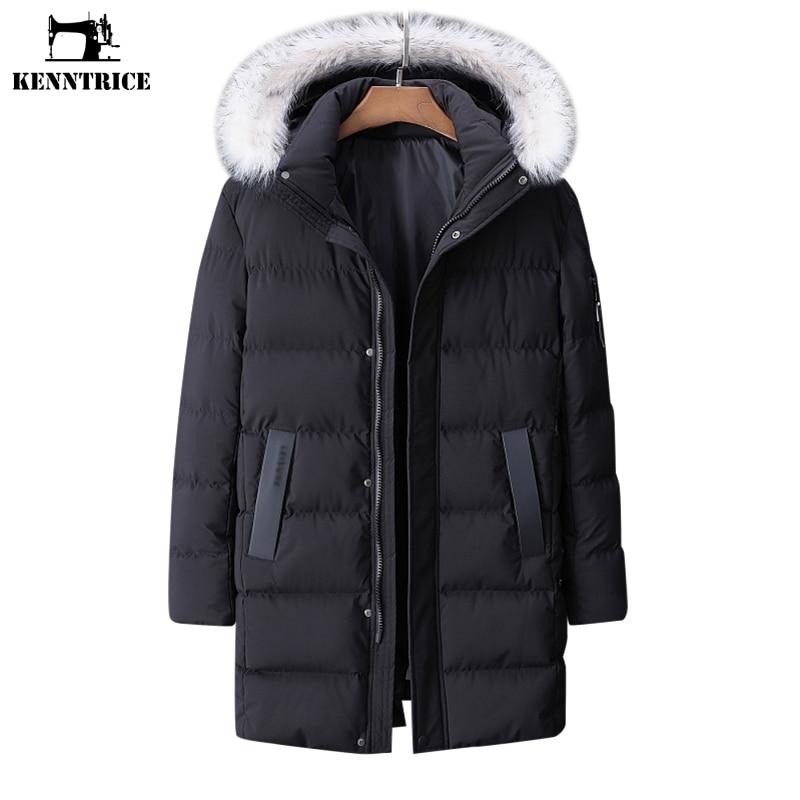 KENNTRICE زائد حجم معطف 9XL جديد طويل معاطف الرجال الشتاء ستر عارضة يندبروف القطن مقنعين الشتاء سترة رجل لباس-في سترات فرائية مقلنسة من ملابس الرجال على  مجموعة 1