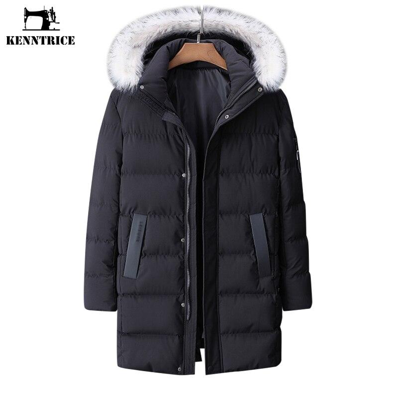 KENNTRICE más tamaño abrigo 9XL nuevos abrigos largos de invierno para hombre Parkas Casual a prueba de viento de algodón con capucha chaqueta de invierno para hombre ropa de abrigo-in Parkas from Ropa de hombre    1