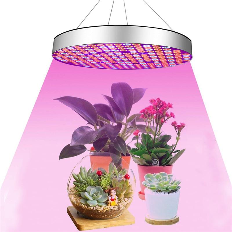 50 Вт светодиодный растут огни полный спектр завод расти лампы круглый Форма висит светодиодный свет для комнатных растений Вег цветение эт...