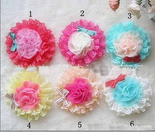 Корейские популярные ювелирные изделия для девочек оптом детские элегантные шифоновые цветы полая заколка Обрезка волос клип Брошь