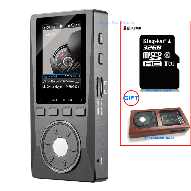 NEW XDUOO X10 32GB Leather Case Portable High Resolution Lossless DSD Music font b Player b