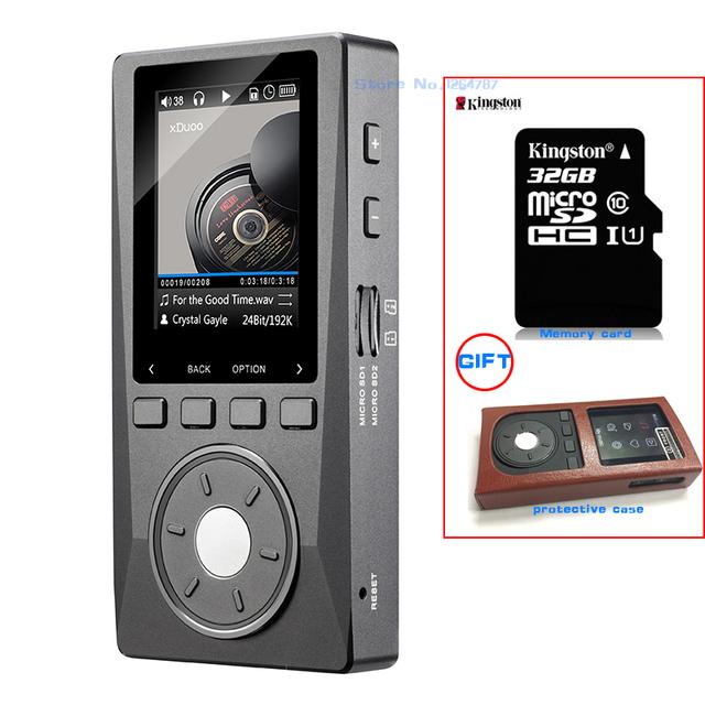 NUEVA XDUOO X10 (+ 32 GB + Estuche de Cuero) portátil de Alta Resolución Lossless Reproductor de MP3 Reproductor de Música Soporta Salida Óptica DAP DSD
