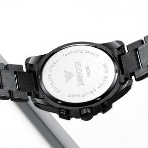 Image 2 - NIBOSI 2020 erkekler saatler üst marka lüks resmi su geçirmez erkek saat Chronograph tam çelik spor İzle erkekler Relogio Masculino