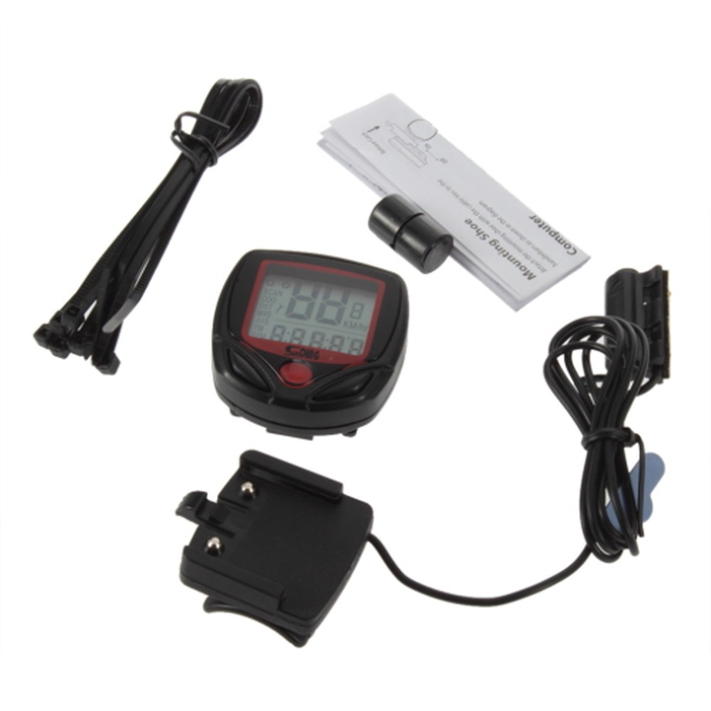 Cycling font b Computer b font Leisure 14 Functions Odometer Speedometer With LCD Display Bike Speedometer