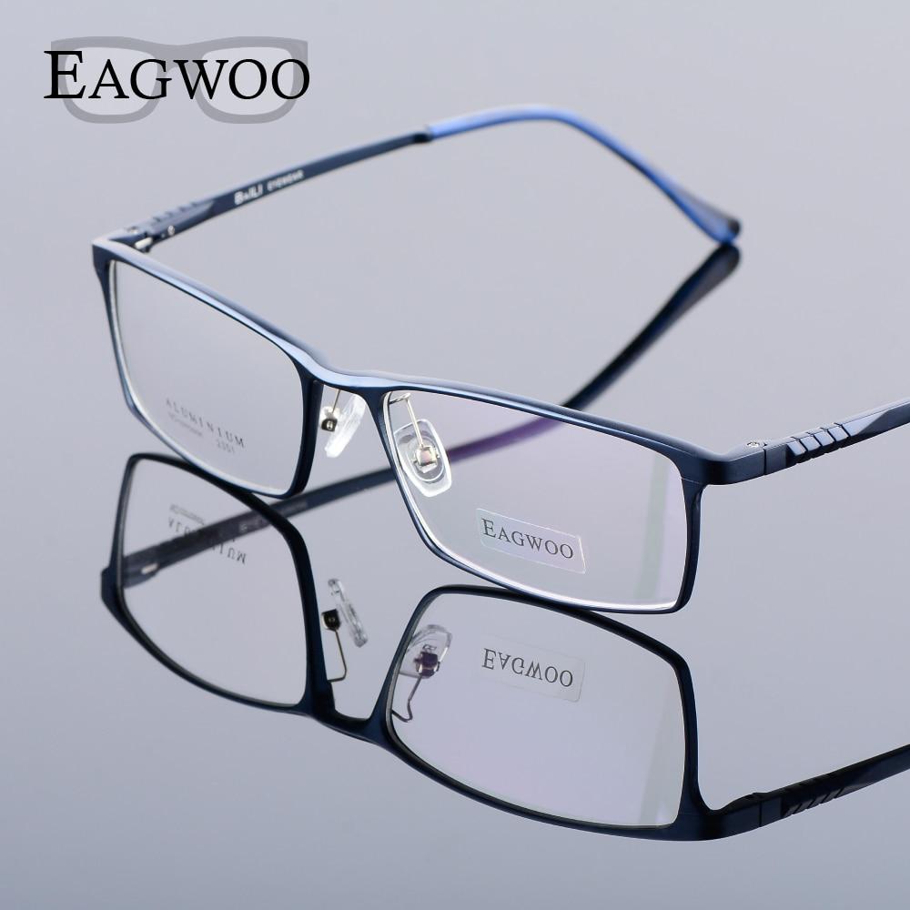 Glasses Frames Wide Faces : Eagwoo Aluminum Men Wide Face Prescription Eyeglasses Full ...