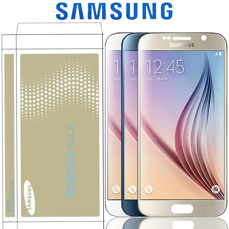 Original 5 1 Super AMOLED LCD For Samsung Galaxy S6 G920 G920F G920i G920W8 LCD Display