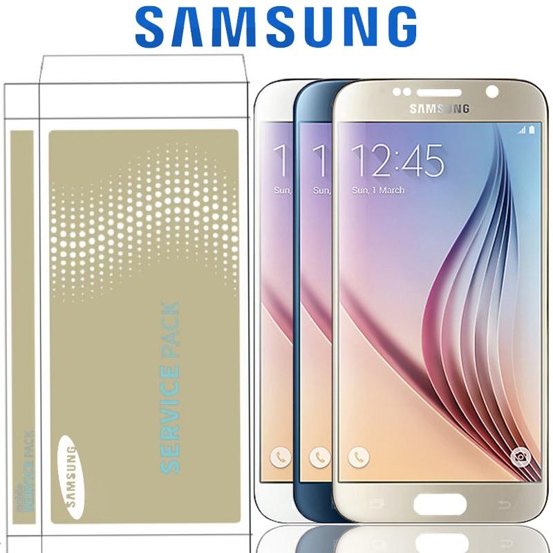 Originale 5.1 ''Super AMOLED LCD Per Samsung Galaxy S6 G920 G920F G920i G920W8 Display LCD Touch Screen Digitizer Assembly-in Schermi LCD per cellulare da Cellulari e telecomunicazioni su  Gruppo 1