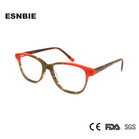 7dc9ea70b Acetate Women Eyeglass Optical Frame Multi Color Stylish Glasses Eye Frames  Woman Vintage Clear Lens Eyeglasses