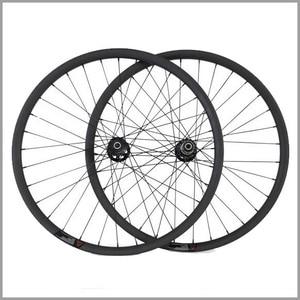 "full carbon fiber mountain bike wheels height 20mm width 30mm clincher carbon 29"" mtb bike wheels with Novatec hub 3k matte"