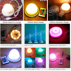5pieces Fast DHL Very Bright waterproof rechargeable under table lighting