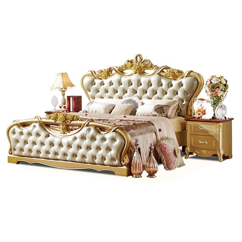 Cama matrimonial de madera estilo princesa tamaño king continental ...