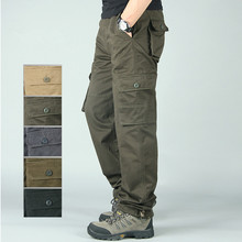 Plus Size 4XL Men Tactical Pants Male Jogger Casual Cotton Trousers Multi Pocket Military Style Army