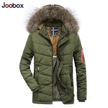 2018 зимняя куртка теплые куртки пальто для мужчин Высокое качество утепленная одежда мужской повседневное Slim Fit на молнии с капюшоном куртки