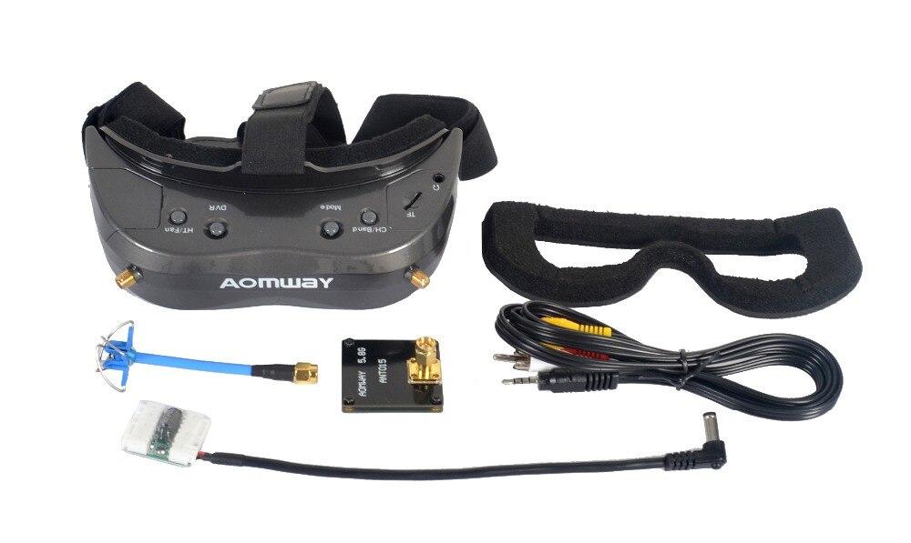 New Hot 64Ch Comandante Óculos V2 3D Aomway 5.8g 1080 p 800*600 SVGA Vídeo FPV Apoio Fone de Ouvido HDMI DVR 45 FOV Para RC Modelo