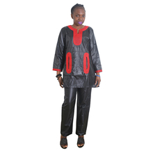 MD african women clothes 2019 lady tops pants set traditional style embroidery clothing for trouser suit