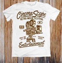 CINEMA SCOPE RETRO MOVIE FESTIVAL UNISEX T-SHIRT MenS T-Shirts Summer Style Fashion Swag Men T Shirts.Sleeve Harajuku Tops