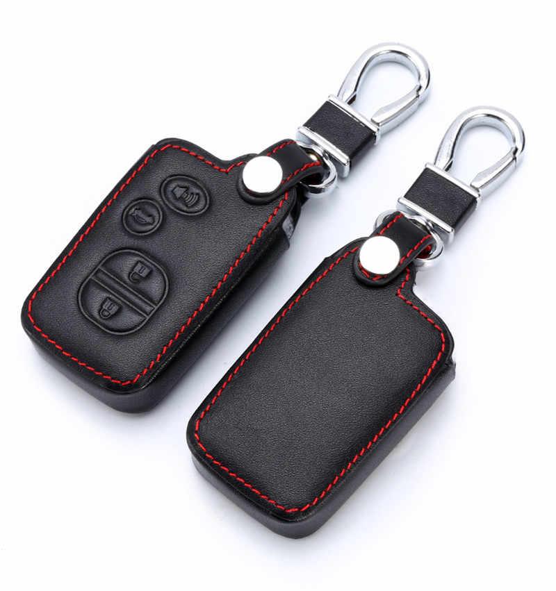 Чехол для ключей из натуральной кожи для Toyota Land Cruiser Prado 150 Camry Prius Crown Брелок