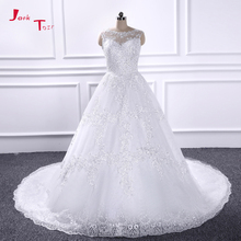 Jark Tozr 100% Real Pi Sequined A-line Wedding Dresses With