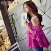 Dabuwawa Shirt Female 2017 Summer Ladies Open Shoulder Fashion Casual Loose Rose Blouse Women Pink Doll