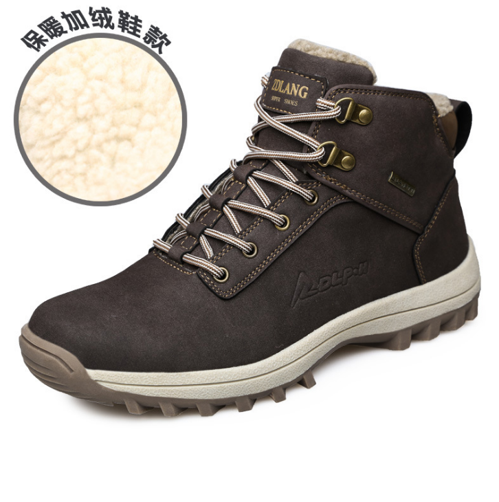47 Más Caliente Calidad Tamaño Zapatos Invierno Ejército 2018 De Alta Cuero Pu Negro amarillo Huanqiu Calzado Botas marrón Del La Zll158 Hombres Impermeable Zapatilla 39 WHXYwq8xEx