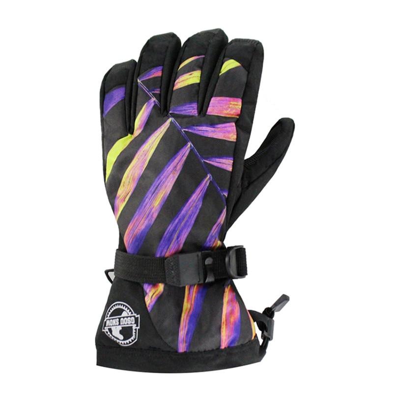Men Gsou Snow Brand Ski Glove Windproof Waterproof Touch Screen Skid Warm Outdoor Sport Wear Cycling Skiing Snowboard Glove 2017