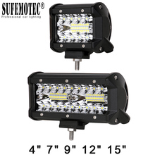 USA Cree LED 3600lum 12pcs*3w 36W Off road Light bar Working Driving Lights Bar