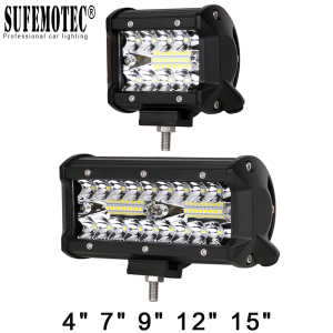 60W 120W 180W 4x4 Offroad Led Light Bar For Cars Combo Beams Off road SUV ATV Tractor Boat Trucks Excavator 12V 24V Work Lights(China)