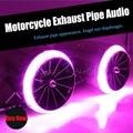 Nova marca de som MP3 Tocar música do tubo de escape Akrapovic Motocicleta Modificado Silenciador Tubo de Escape da motocicleta Scooter ATV Universal