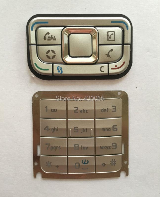 White new housing cover mobile <font><b>phone</b></font> keypads,keyboards,buttons for <font><b>Nokia</b></font> <font><b>E65</b></font>,Free shipping