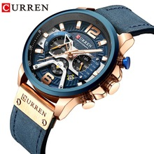 CURREN Fashion Sports Quartz Wristwatch 2019 Top Brand Luxury Watch Men With Chronograph Date Military For Men Blue Male Clock new curren watches luxury brand men watch full steel fashion quartz watch casual male sports wristwatch date clock relojes 8227