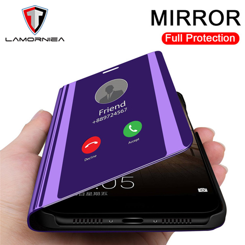 Clear Mirror Flip Back Phone Case For Asus Zenfone Max Pro M2 Case TPU+PC Shockproof Cover For Asus Zenfone Max Pro M2 ZB631KL