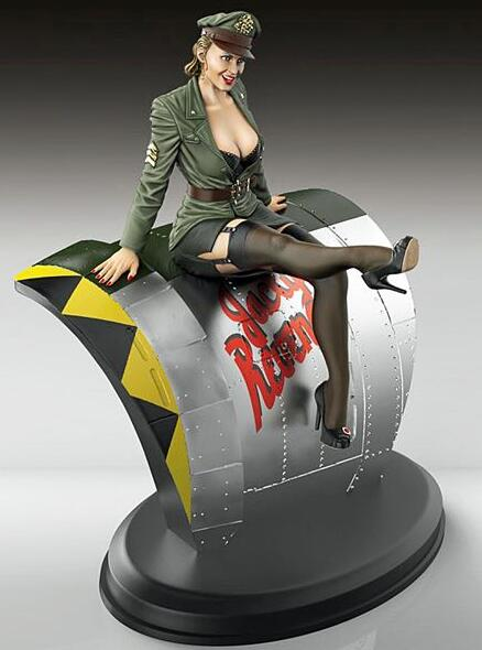 1/35 Resin Kits WWII US Army Sexy Beauty Girl 1pc (no Plane,no Base)