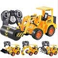 Nueva conexión de cable de luz de vehículo de la ingeniería de control remoto eléctrico máquina de excavación excavadora excavadora agarrar madera children's toys