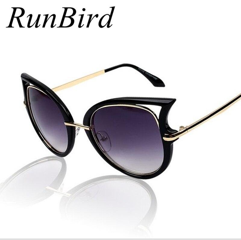 c6fbcbc8ee9c2 2017 Nuevo estilo diseñador de marca Gato ojo Gafas de sol mujeres gafas de  sol de alta calidad Sol Gafas retro oculos de sol feminino r015