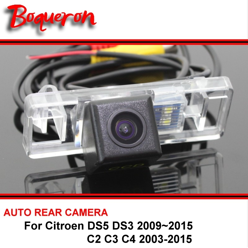 For Citroen DS5 DS 5 DS3 DS 3 C2 C3 C4 2003~2015 Car Rearview Parking Reverse Backup SONY HD CCD Rear View Camera Night Vision