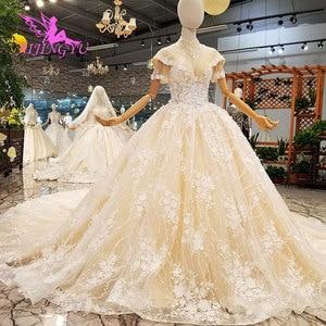 Image 3 - فساتين زفاف AIJINGYU مقاس كبير فستان كوري دانتيل تول قطع قطعتين خصم فساتين زفاف جميلة للبيع